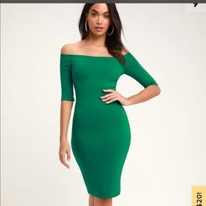 Kelly Green Lulus dress